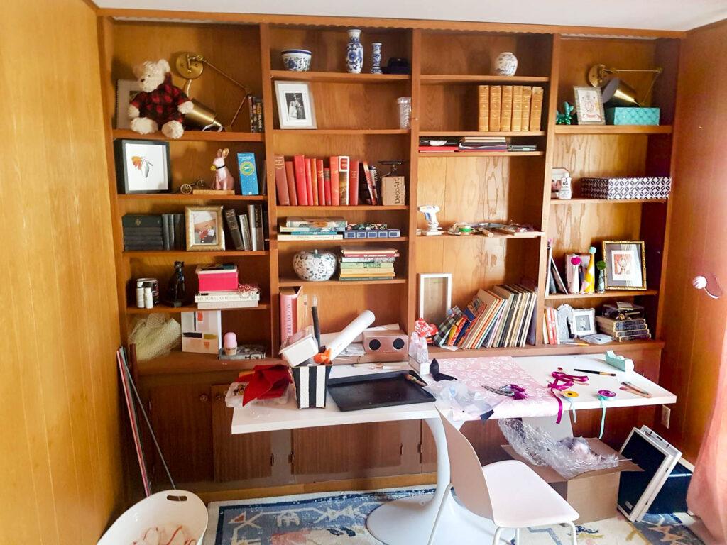 ofis ev oda fikirleri fotoğraflar pembe kütüphane