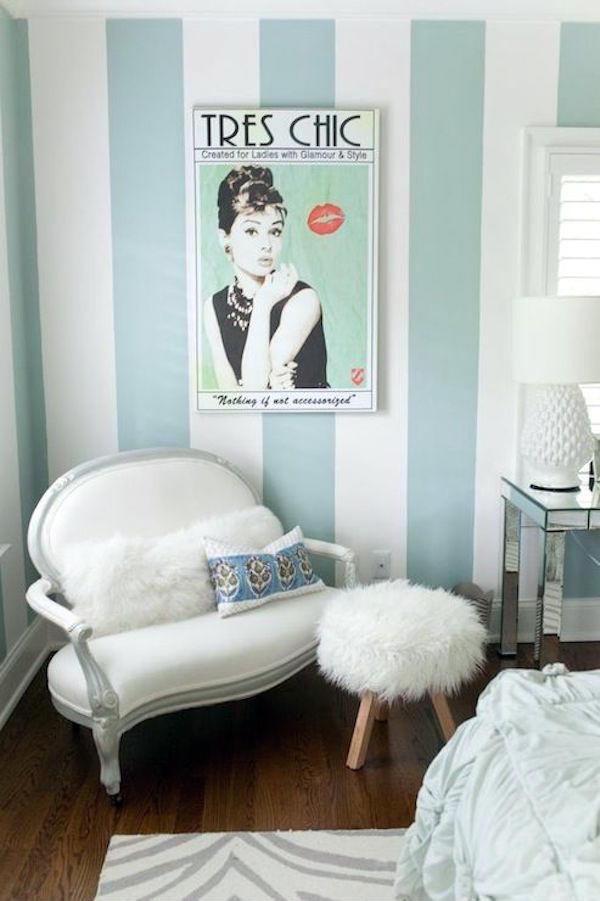 dikey çizgili duvar boyama fikirleri ev oturma odası 2019