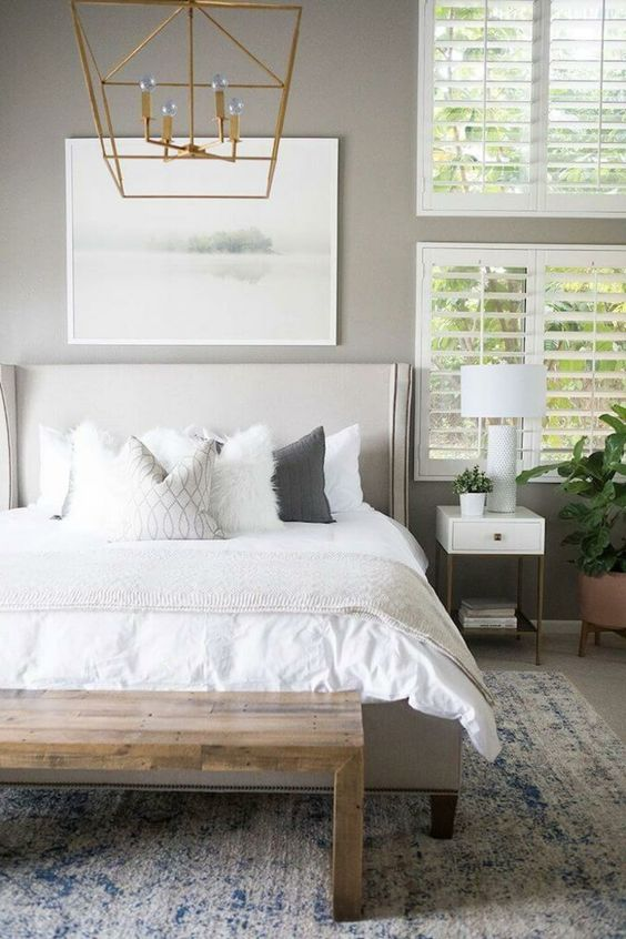 yatak odası kilim dekorasyonu