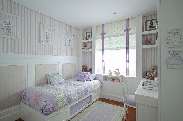 beyaz leylak ile çocuk odası dekoru