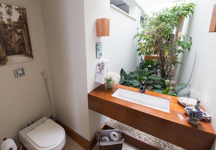 ahşap tezgahlı ankastre lavabo