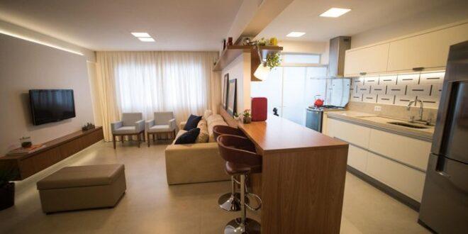 balcão de cozinha com espaço para refeições