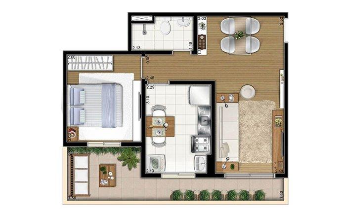 insanlaştırılmış apartman planı
