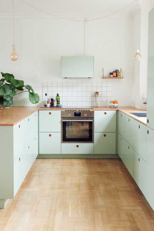 Zemin tasarım fikirleri U şekli mutfak