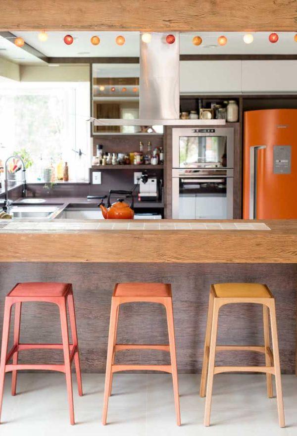 U şekli mutfak çok güzel sandalyeler