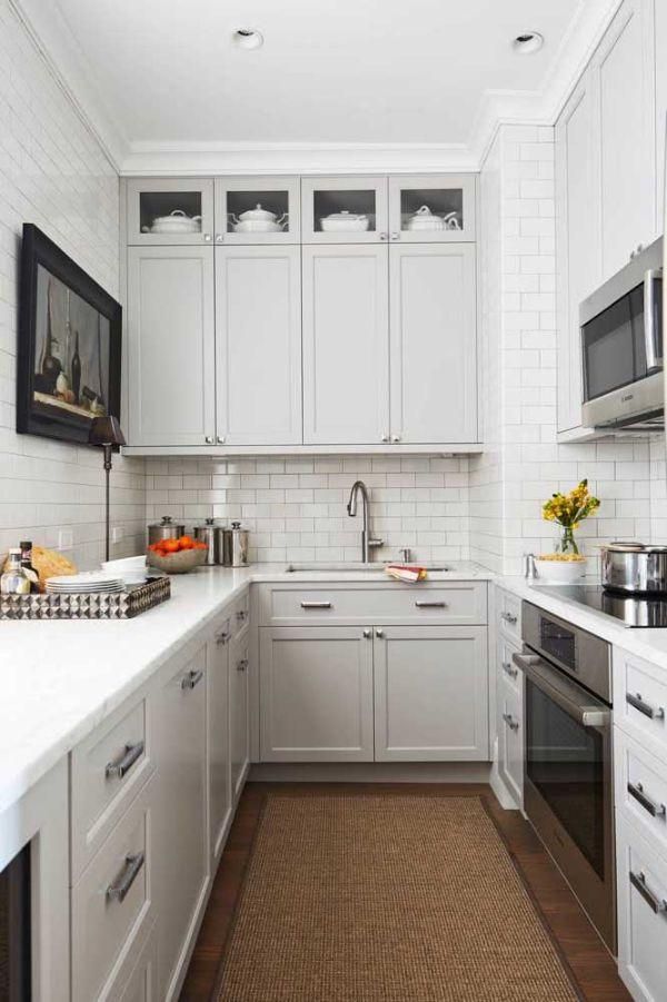 U şekli mutfak tasarım fikirleri