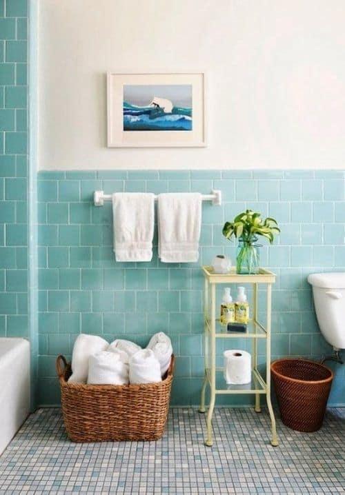 Banyo renk paletini kullanan bir resim