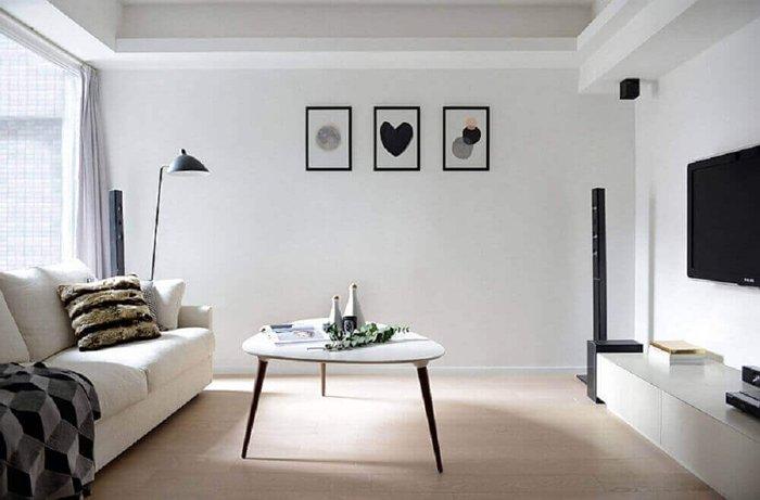 minimalist mobilyalı oturma odası