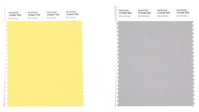 Yılın Renkleri 2021 Pantone Ultimate Grey ve Illuminate Yellow