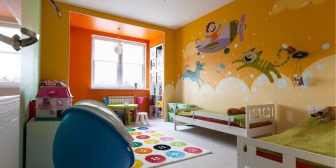 Çocuk odasında satın almak için resim için hangi duvar kağıdı