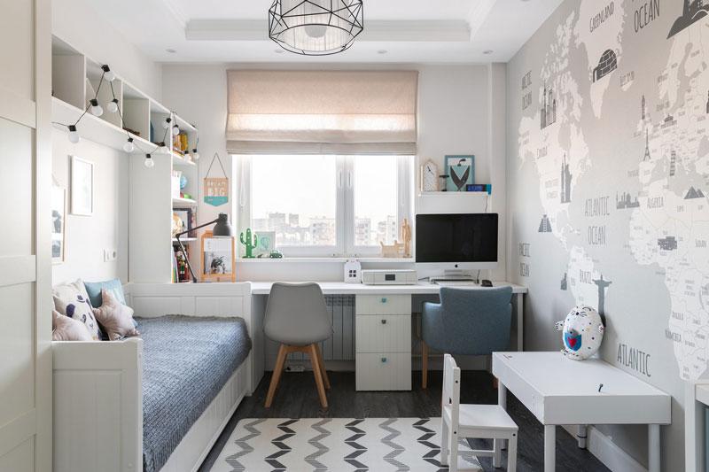 Daha İyi Çocuk Odaları Tasarlamak İçin 6 İpucu.  Küçük odalar için tümüyle işlevsel olan İskandinav minimalizmi