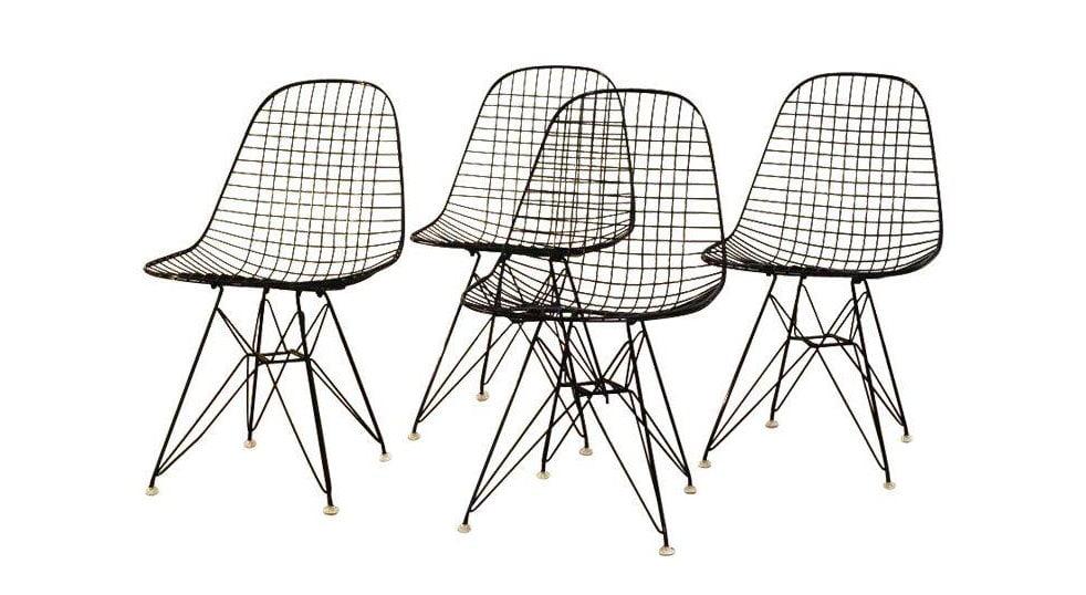 Eskiz stili metal cubuk mobilyalari