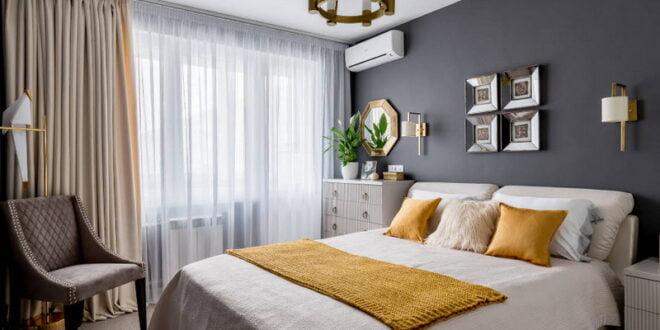 Fonksiyonel ve şık bir yatak odası tasarımı için fikirler 12 metrekare.  m.
