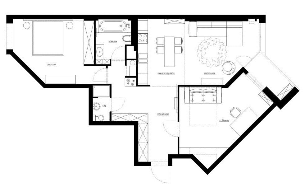 Genc bir kiz icin bir apartmanda Italyan futurizmi ve Japon
