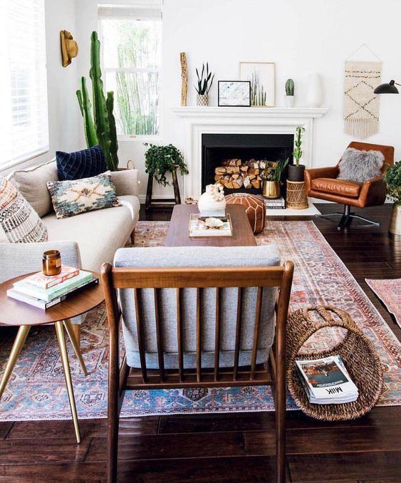 Klasik oryantal oturma odası halıları