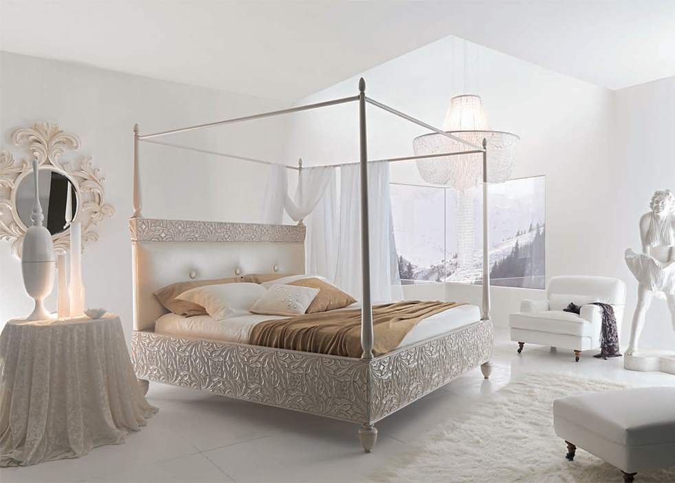 Klasik ve modern iç mekanlarda sayvanlı yataklar