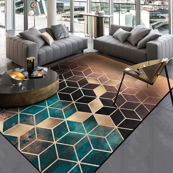 Modern oturma odasındaki en iyi yer halıları