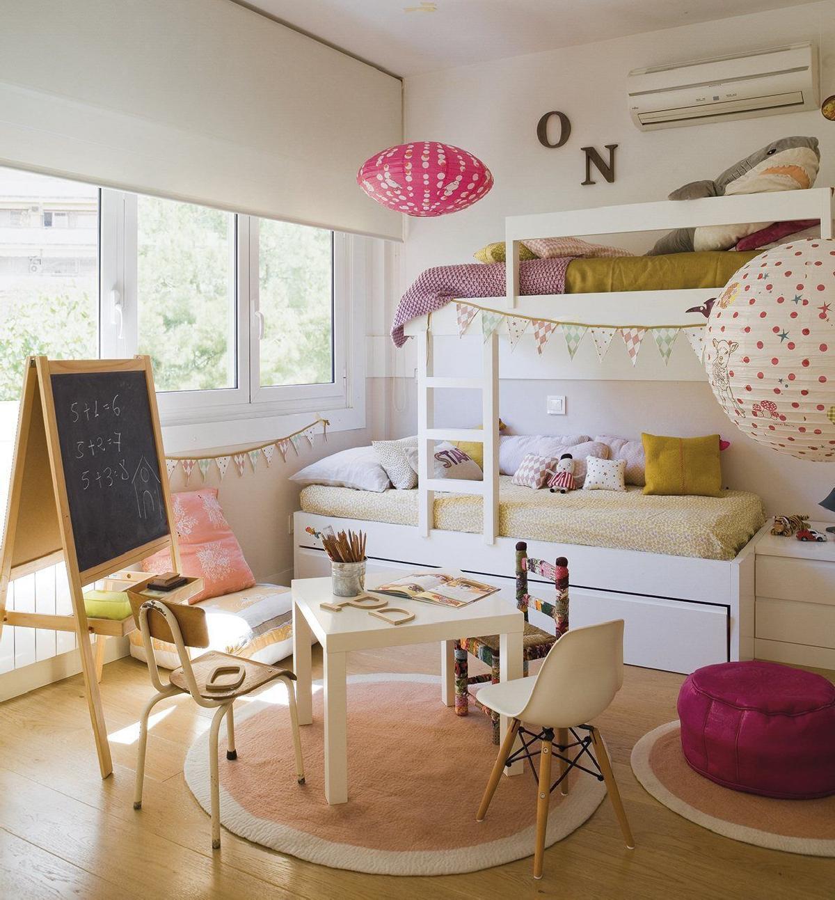 Paylasilan cocuk yatak odalari nasil dekore edilir