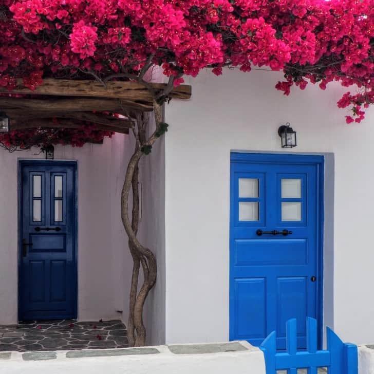Mavi dış kapı