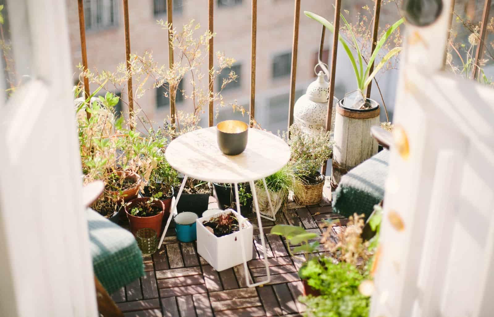 como decorar una terraza o un balcón con plantas