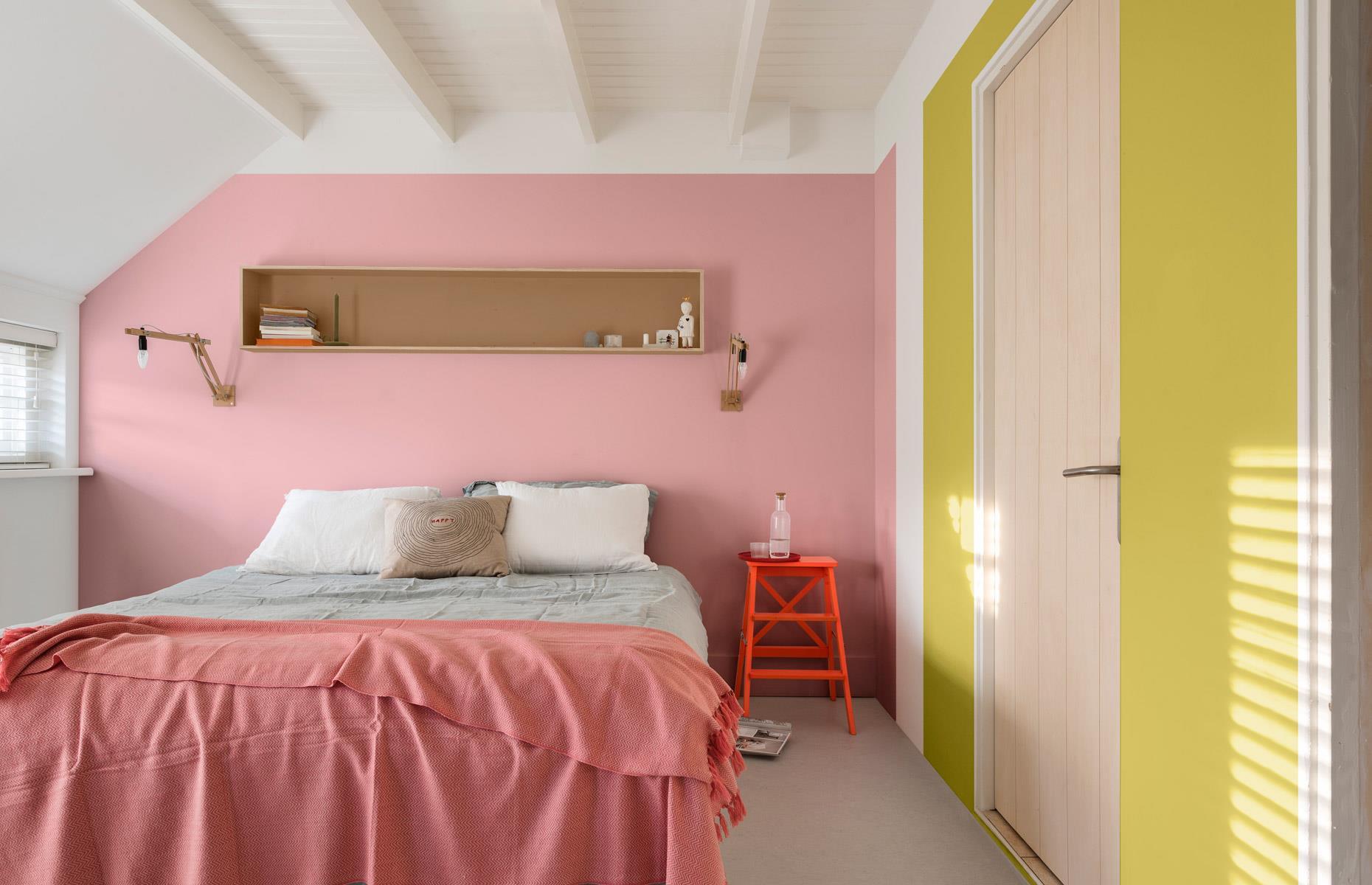 17 neşeli, renkli ve güzel çift kişilik yatak odası