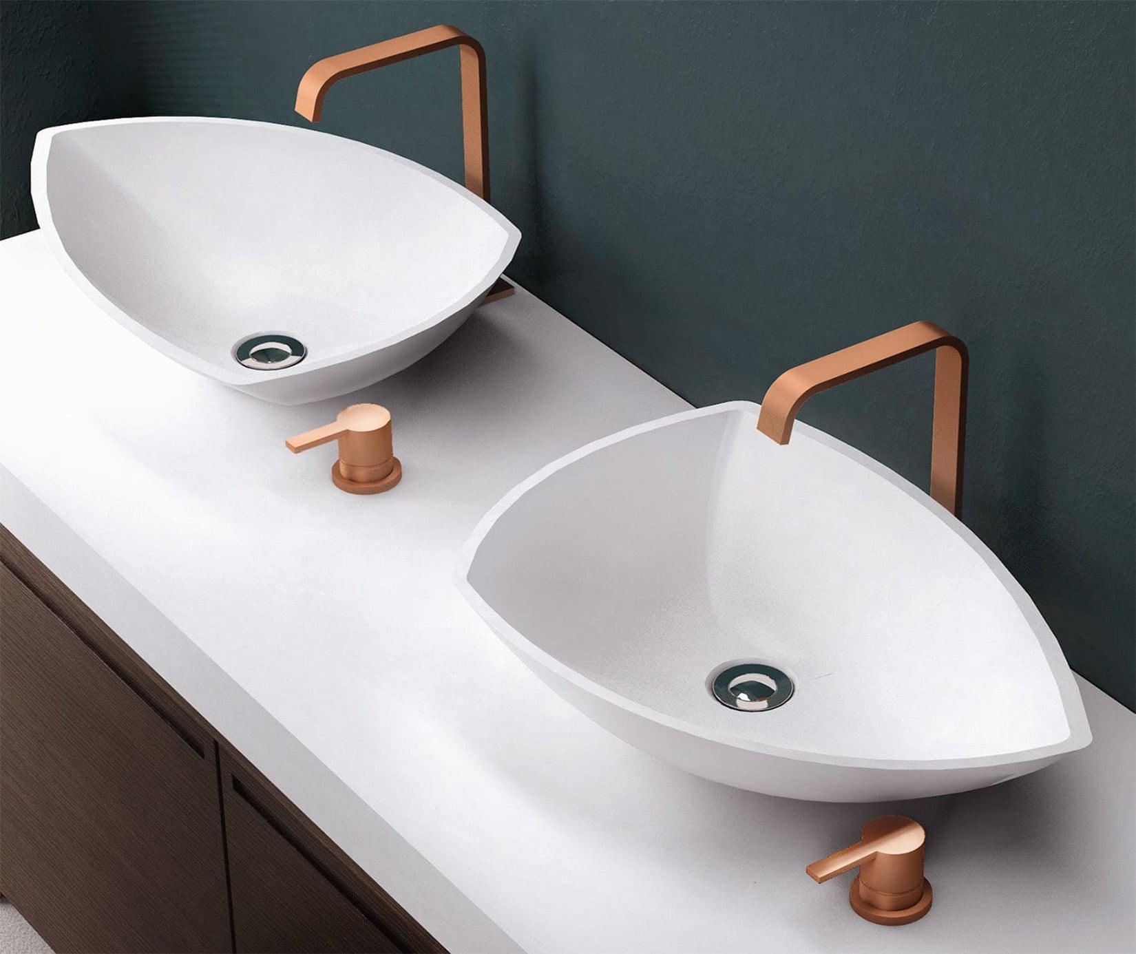 EN İYİ bir banyo için 10 modern tasarım ve özelleştirilebilir lavabo