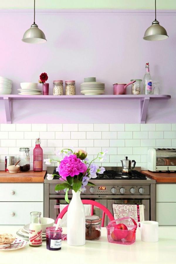 beyaz mutfak hangi duvar rengi mor duvarlar taze duvar tasarımı