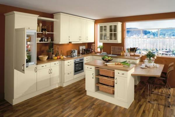 beyaz mutfak hangi duvar rengi kahverengi duvarlar fonksiyonel mutfak adası