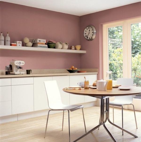 beyaz mutfak hangi duvar rengi yumuşak pastel renk pembe