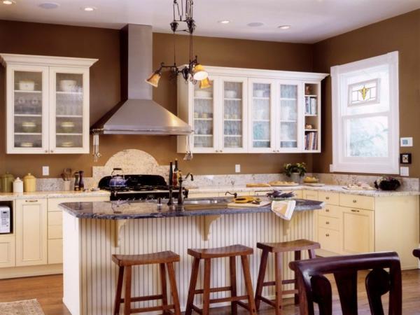 duvar rengi yumuşak kahverengi duvar rengi rahat beyaz mutfak
