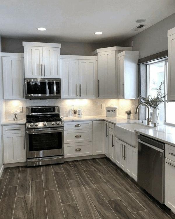 beyaz mutfak hangi duvar rengi gri duvarlar güzel zemin
