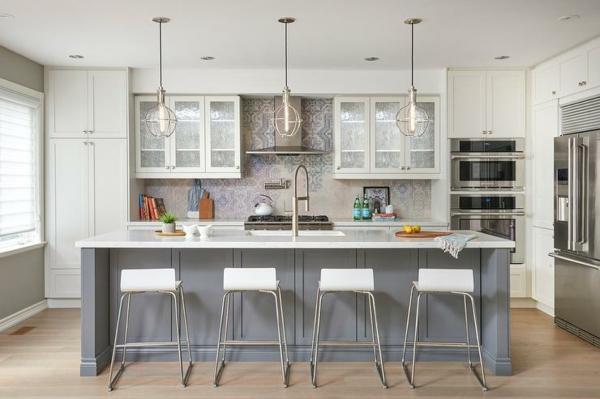 ada rahat mutfak ile modern mutfak kolye ışıkları kur