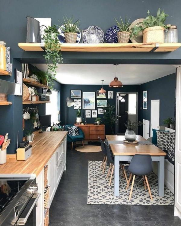 boya mutfak renk fikirleri karanlık duvar boyası mutfak mobilyası