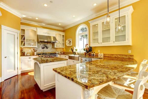 boya mutfak renk fikirleri mutfak rahat dekore güzel mutfaklar sarı duvarlar