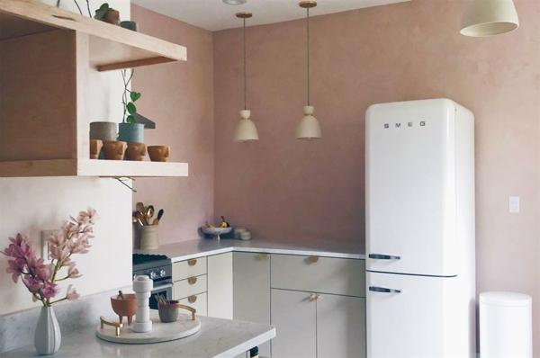 boya mutfak boya fikirleri güzel mutfak duvar boyası fikirleri pastel renkler