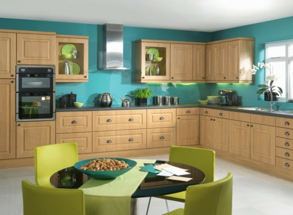 boya mutfak boya fikirleri duvar boyası mutfak yeşil tonları birleştirmek