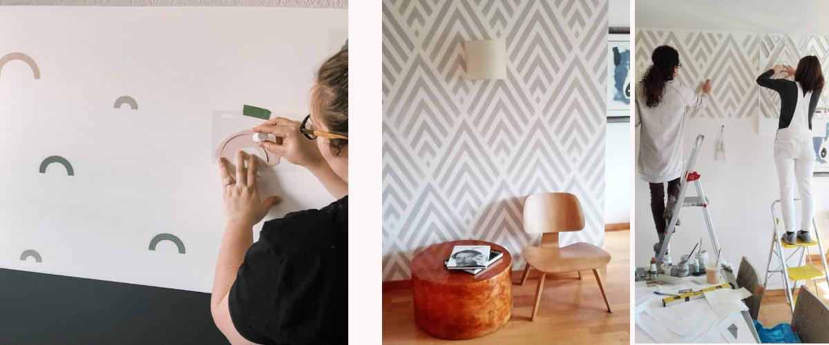 Duvarları boyamak için şablonlar