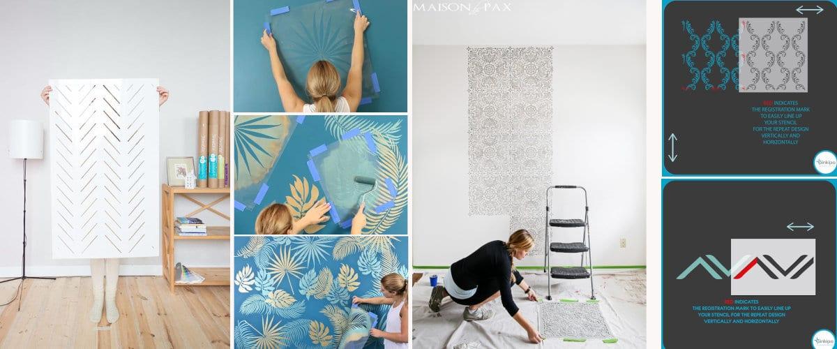 Duvarları boyamak için şablon nasıl kullanılır