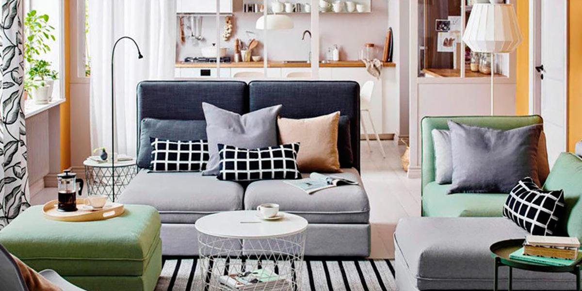 Oturma odası için modüler kanepeler
