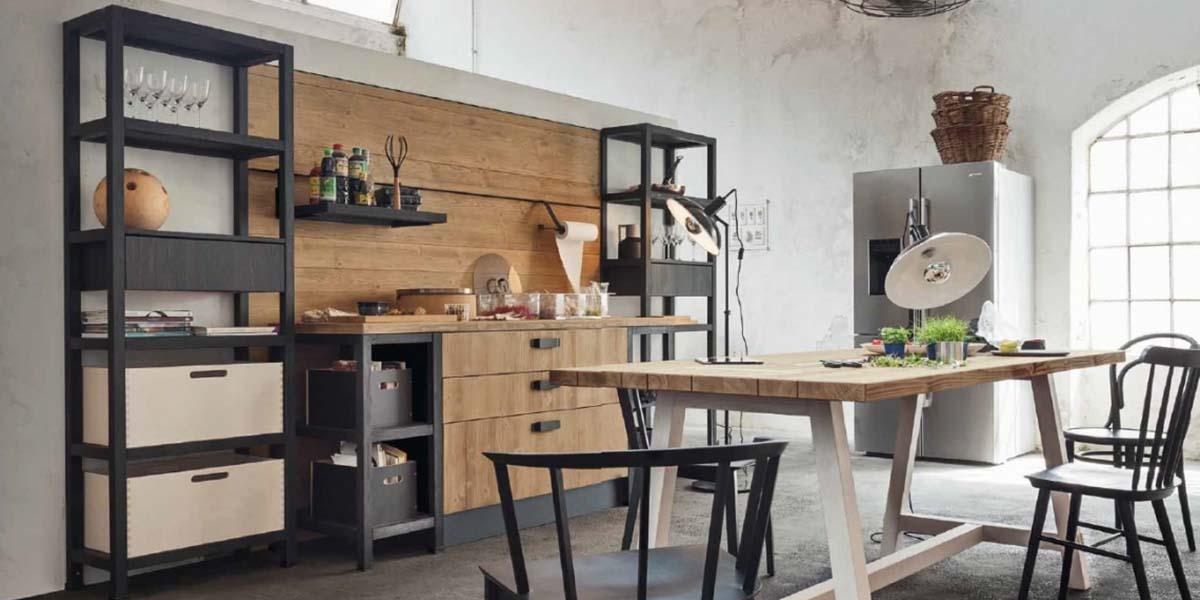 Metal mobilyalı endüstriyel mutfaklar