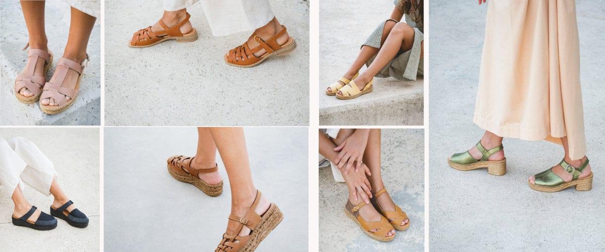 Jüt tabanlı Naguisa sandalet, çok yazlık!