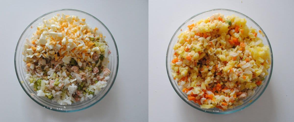 Karnabahar ve romanesco salatası
