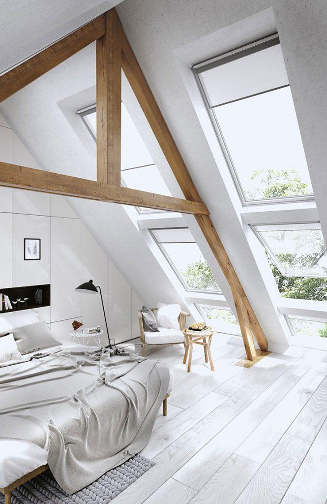 tavan arasında yatak odası döşemek