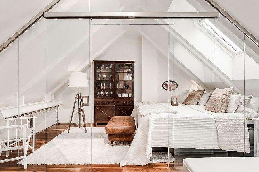 tavan arasında yatak odası