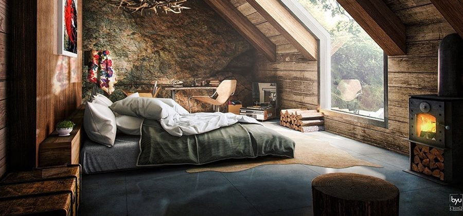 Tavan arası yatak odaları: rüya tavan arası için fikirler