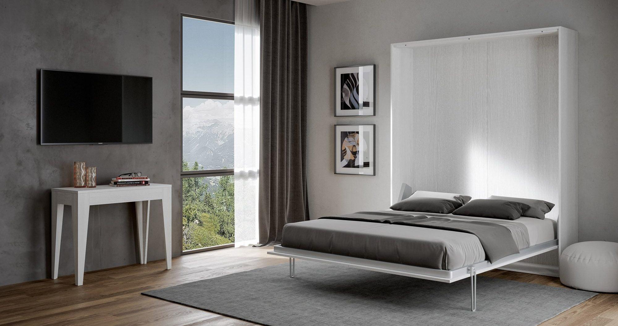 Yerden tasarruf sağlayan yatak odası: alanlar nasıl optimize edilir