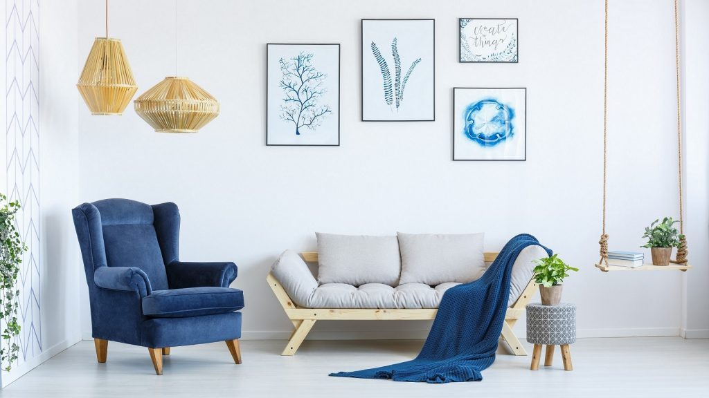 evinizi klasik mavi ile dekore etmek için fikirler