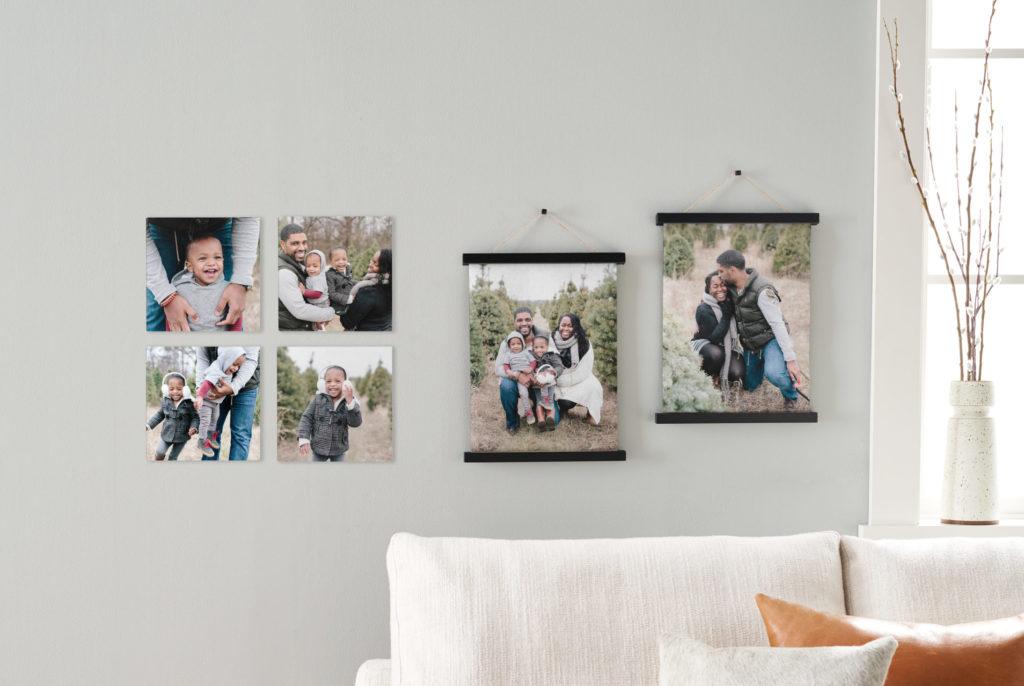 Tatil dekorasyonu için özel asılı tuval baskıları ve fotoğraf karoları
