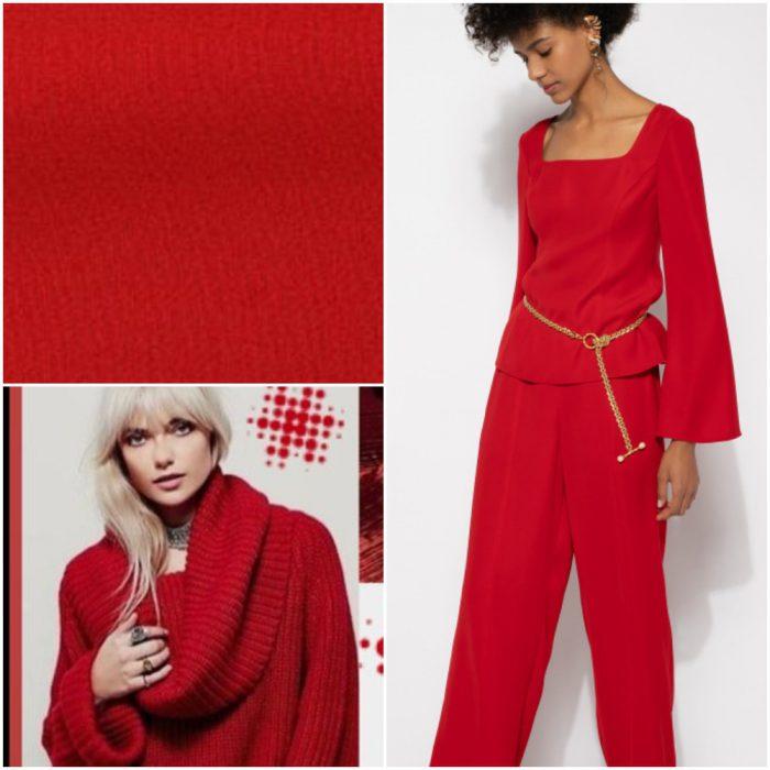 kırmızı tahta Trendy renkler kış 2022