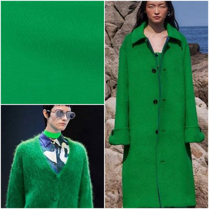 yoğun yeşil Modaya uygun renkler kış 2022